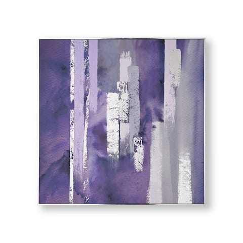"""Graham and Brown 104015 Purple Harmony 35"""" x 35"""" Framed Abstract Painting on Stretched Canvas"""