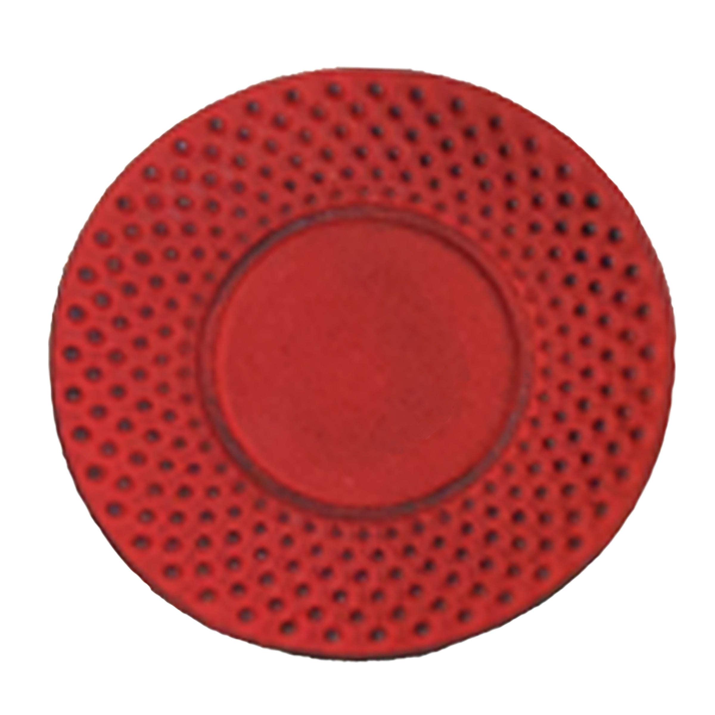 """Creative Home Red Cast Iron 3.75"""" Round Trivet, Coaster. Opens flyout."""