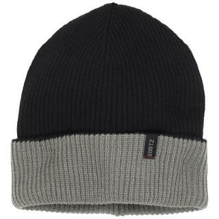 A. Kurtz Mens Merino Wool Ribbed Knit Beanie Hat - o/s
