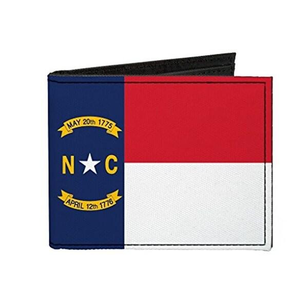 Buckle-Down Canvas Bi-fold Wallet - North Carolina Flag Accessory