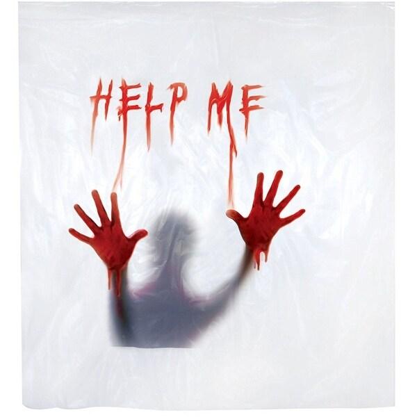 Halloween Decoration Shower Curtain: Help Me