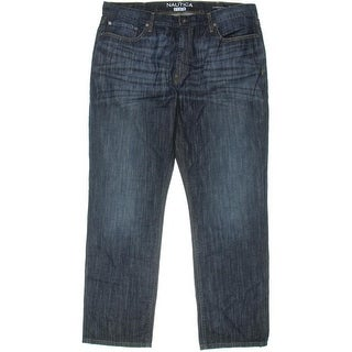 Nautica Mens Straight Fit 5-Pocket Jeans