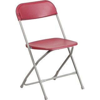 Rivera Heavy Duty Plastic Folding Chair, Red