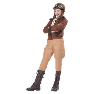 Girls Aviator Amelia Earhart Pilot Costume