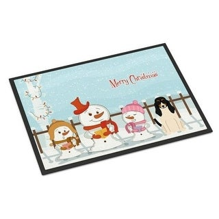 Carolines Treasures BB2375MAT Merry Christmas Carolers Swiss Hound Indoor or Outdoor Mat 18 x 0.25 x 27 in.