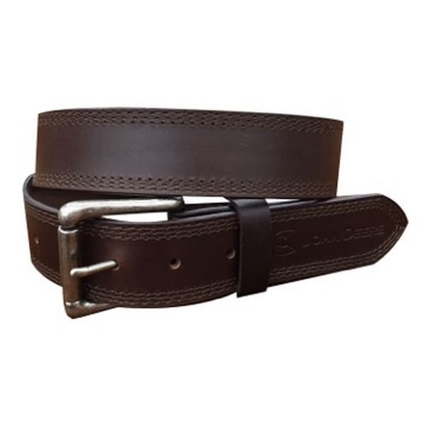 John Deere Western Belt Mens 38MM Roller Buckle Brown