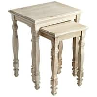 Cyan Design Triomphe Nesting Tables Triomphe 18.5 Inch Long Wood Nesting Table Made in India