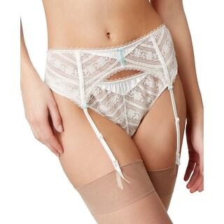 Heidi Klum Intimates Womens Paradise Promises Garter Belt Blanc De Blanc Medium