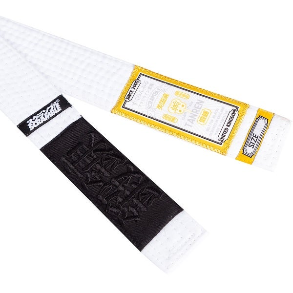 White Scramble Tanren Brazilian Jiu-Jitsu Rank Belt