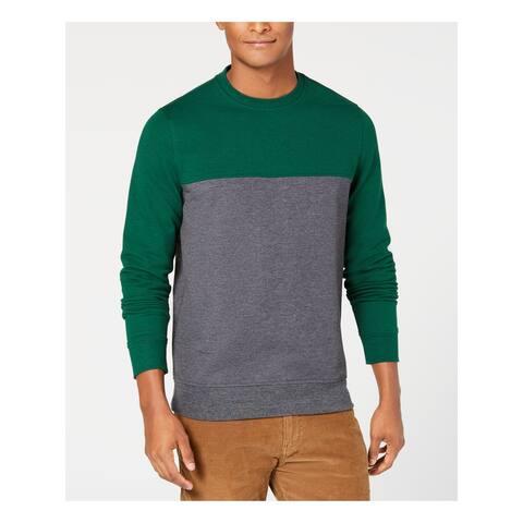 CLUBROOM Mens Green Crew Neck Regular Fit Sweatshirt XXL