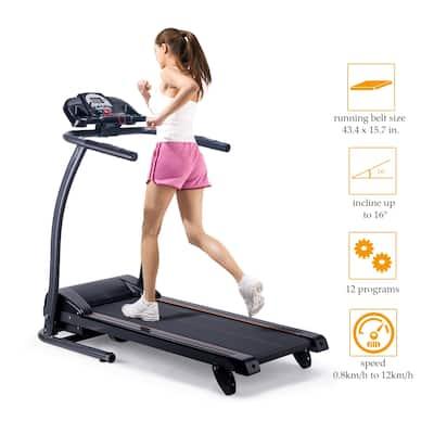 Folding Electric Treadmill Motorized Power Running Fitness Machine