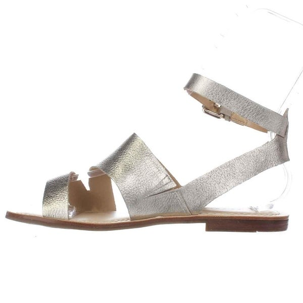 Marc Fisher Womens Florette Leather Open Toe Casual Ankle Strap Sandals