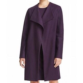Elie Tahari NEW Aubergine Purple Womens Size XS Open-Front Lapel Jacket