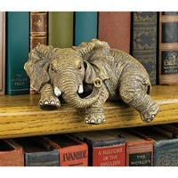 Design Toscano Ernie the Elephant Shelf Sitter Sculpture - 5.5 x 3.5 x 2.5