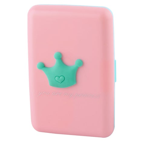 Plastic Crown Decoration Portable Multifunction Card Holder Storage Bag Case Box