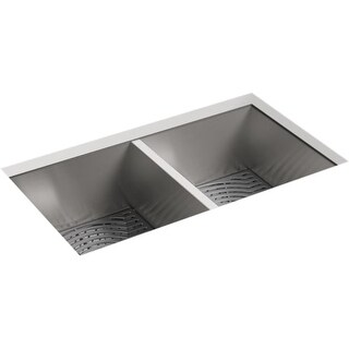 "Sterling 20024-PC Ludington 32"" Undermount Double Basin 18 Gauge Stainless Steel"