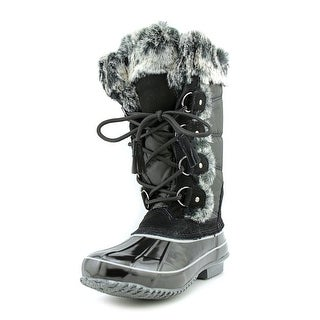 Khombu Bryce Women Round Toe Synthetic Black Snow Boot