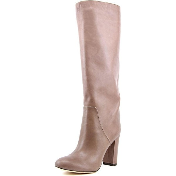VC Signature Tiona Women Round Toe Leather Gray Knee High Boot
