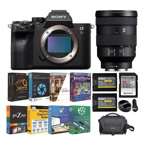 Sony a7R IV 61MP Mirrorless Camera w/ FE 24-105mm f/4 Lens Bundle
