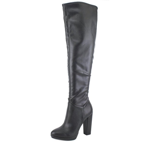 Jessica Simpson Grandie Women Round Toe Synthetic Black Over the Knee Boot