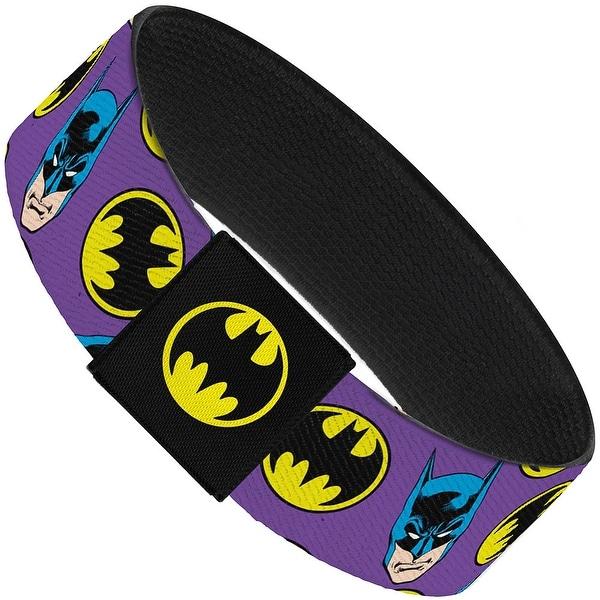 Batman Face Bat Signal Scattered Purple Elastic Bracelet