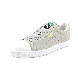 Puma Suede Rubber Toe Men  Round Toe Suede Gray Sneakers