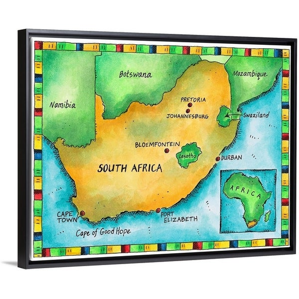 Map Of Africa Today.Shop Illustrated Map Of South Africa Multi Color On Sale Free