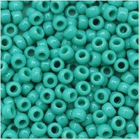 Toho Round Seed Beads 8/0 55 'Opaque Turquoise' 8 Gram Tube