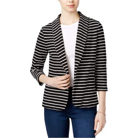 maison Jules Womens Knit Blazer Jacket, Black, X-Small