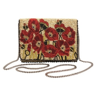 Women's Mary Frances Poppies Beaded Handbag - Red Floral Purse Pocketbook - multicolor - One size