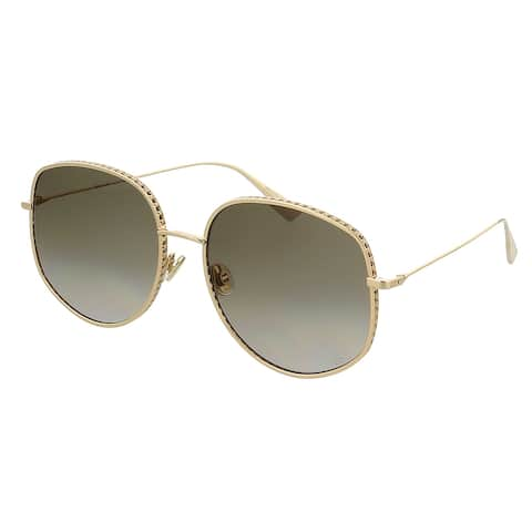 DIORBYDIOR2 0 Rose Gold Square Sunglasses - 58-17-145