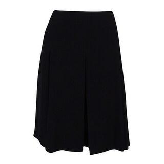 Nine West Women's A-Line Pleated Skirt - Black