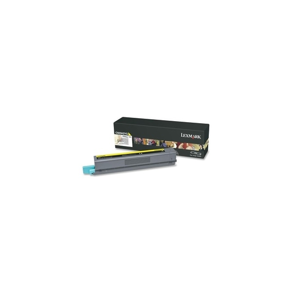 Lexmark C925H2YG Lexmark C925H2YG High Yield Toner Cartridge - Yellow - Laser - 7500 Page - 1 Each