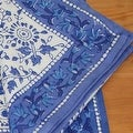 Handmade Floral Rajasthan Block Print Tablecloth 100% Cotton Rectangular Square Round Napkins - Thumbnail 6