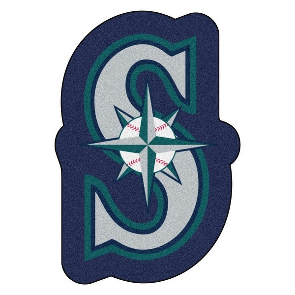 Mlb Seattle Mariners Mascot Novelty Logo Shaped Area Rug Free