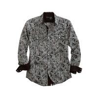 Tin Haul Western Shirt Mens Tiki L/S Green