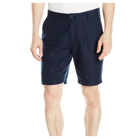 Nautica Blue Mens Size 30 Chinos Classic Fit Linen Blend Shorts