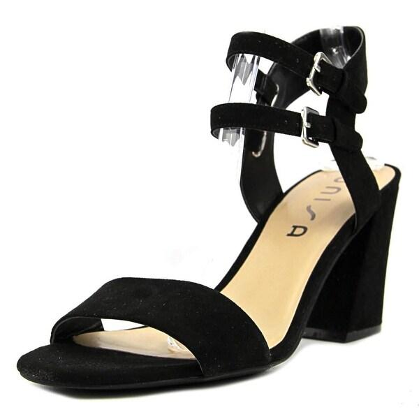 Unisa Reiaa Women Open-Toe Canvas Black Heels
