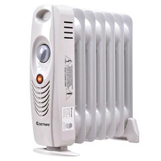 Costway 700W Portable Mini Electric Oil Filled Radiator Heater Safe Room ComforTemp