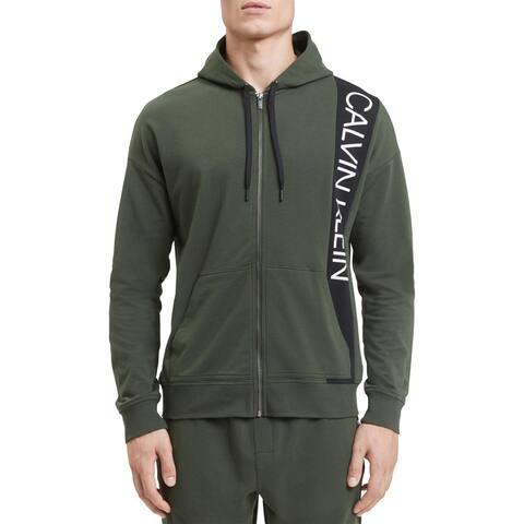 Calvin Klein Mens Hoodie Logo Running
