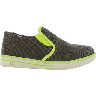Umi Girls' Joss Big Girl Slip-On Dark Gray Textile