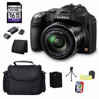 Panasonic Lumix DMC-FZ70 16MP Black Digital Camera 16GB Bundle