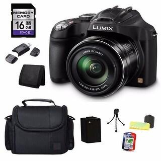 Panasonic Lumix DMC-FZ70 16MP Black Digital Camera 16GB Bundle