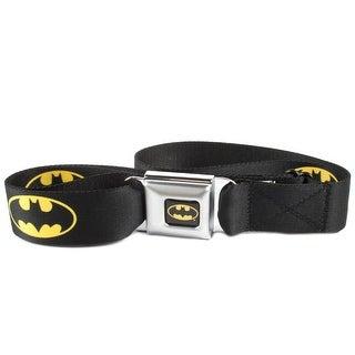 Buckle Down Kids' DC Comics Batman Seatbelt Buckle Belt - Black - One Size