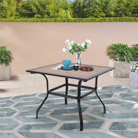 """Sophia & William 37"""" Outdoor Dining Table with Umbrella Hole - 37*37"""