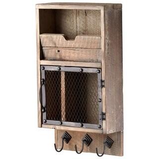 Cyan Design 4880 Casey Wall Organizer - raw iron and natural wood