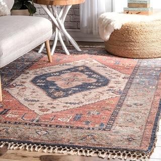 Link to nuLOOM Handmade Vintage Ornamental Area Rug Similar Items in Rugs