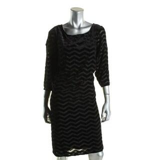 Jessica Howard Womens Plus Special Occasion Dress Velvet Chevron - 20W