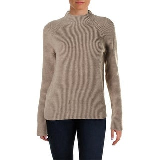 Lauren Ralph Lauren Womens Wool Ribbed Mock Turtleneck Sweater