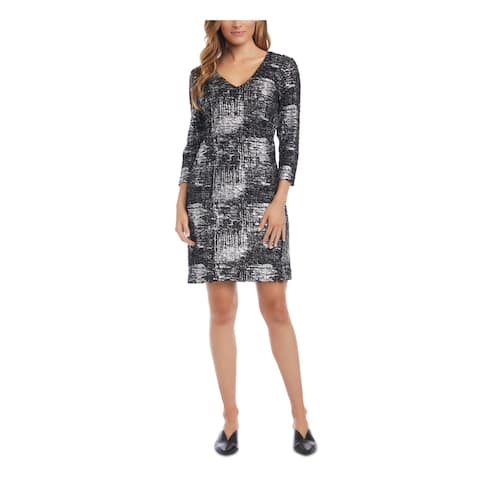 KAREN KANE Black 3/4 Sleeve Above The Knee Dress XL
